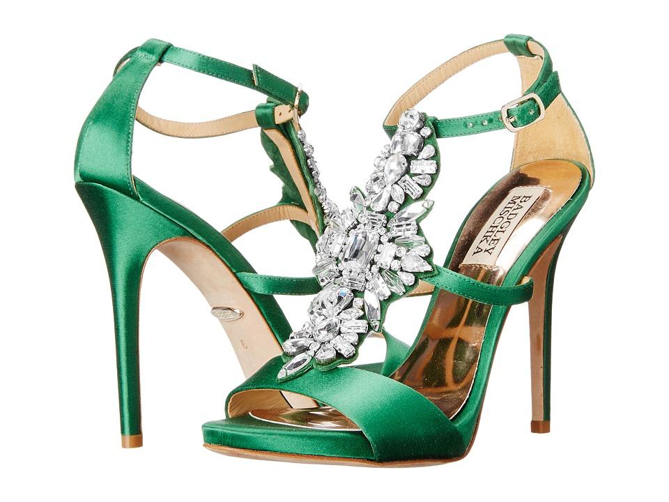 Badgley Mischka Basile (Dark Jade Satin) High Heels