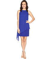 Tahari by ASL - Draped Chiffon Shift Dress