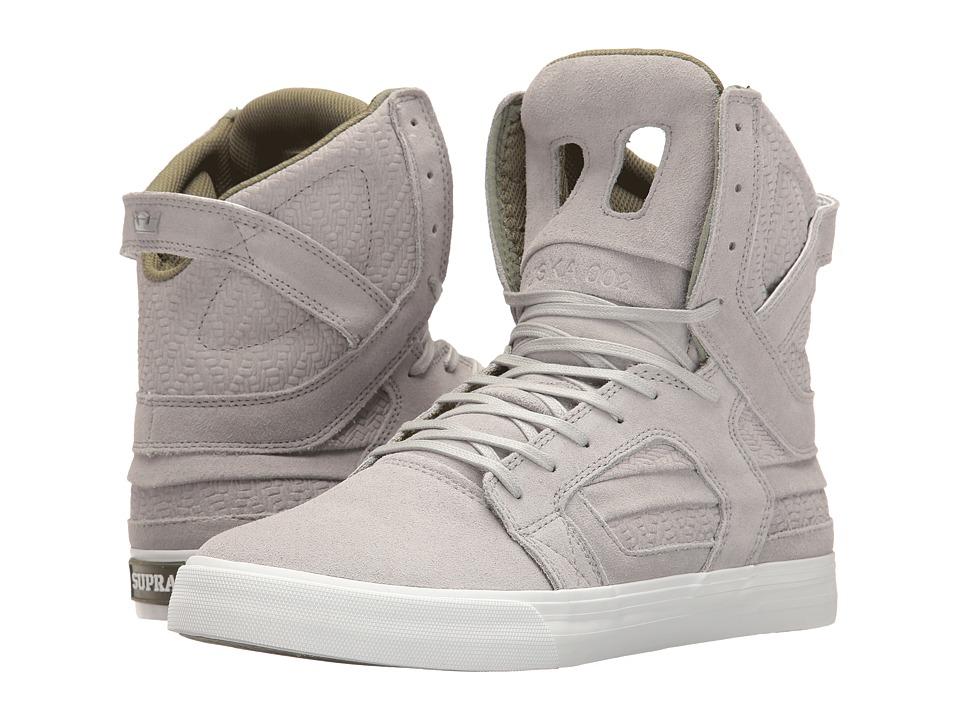 Supra - Skytop II (Light Grey/Olive/White) Mens Skate Shoes