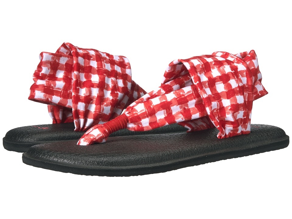 Sanuk Yoga Sling 2 Prints (Red/White Gingham) Women