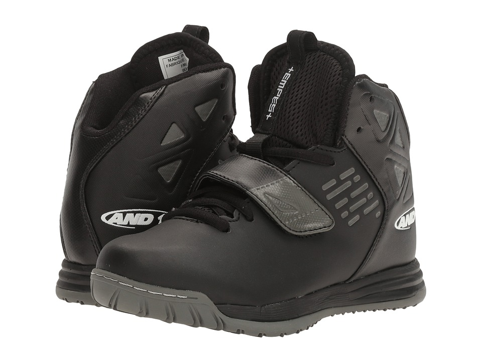 AND1 Kids Tempest (Little Kid/Big Kid) (Black/Castlerock Silver) Boys Shoes