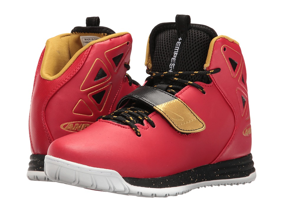 AND1 Kids Tempest (Little Kid/Big Kid) (F1 Red/Black/Rich Gold/White) Boys Shoes