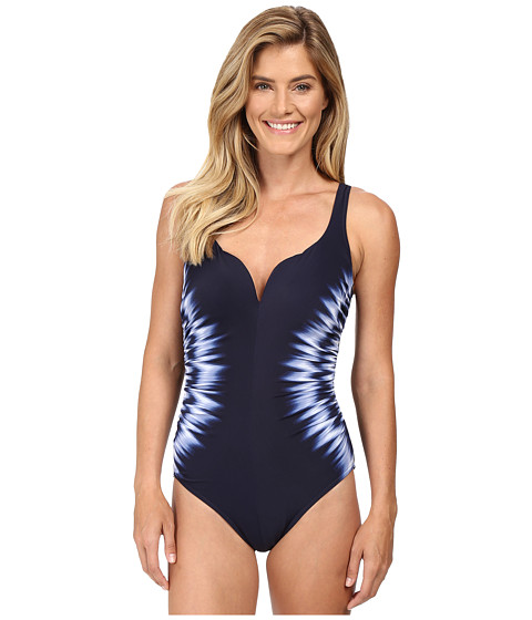 Miraclesuit - Sound Waves Temptress One-Piece (Midnight) Women's Swimsuits One Piece