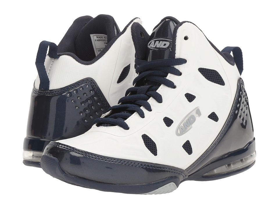 AND1 Kids Master 3 (Little Kid/Big Kid) (White/Peacoat/High-Rise) Boys Shoes