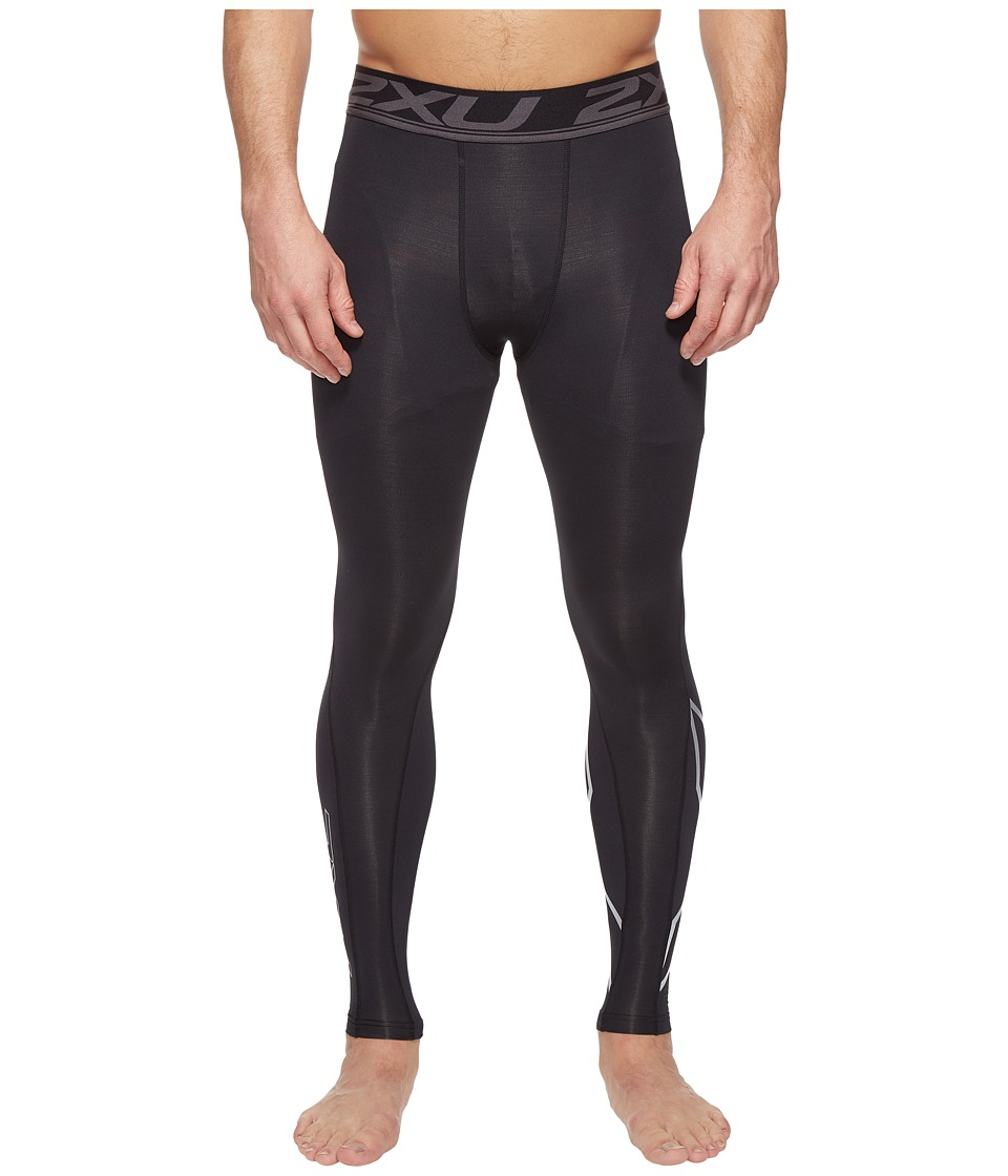 2XU Accelerate Compression Tights (Black/Silver) Men