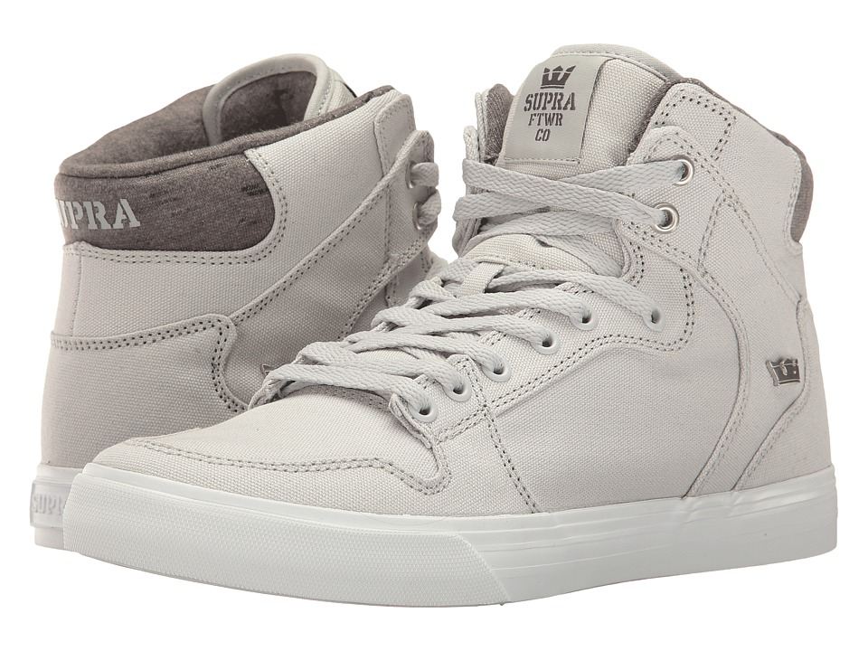 Supra Vaider (Grey Violet/White Canvas) Skate Shoes