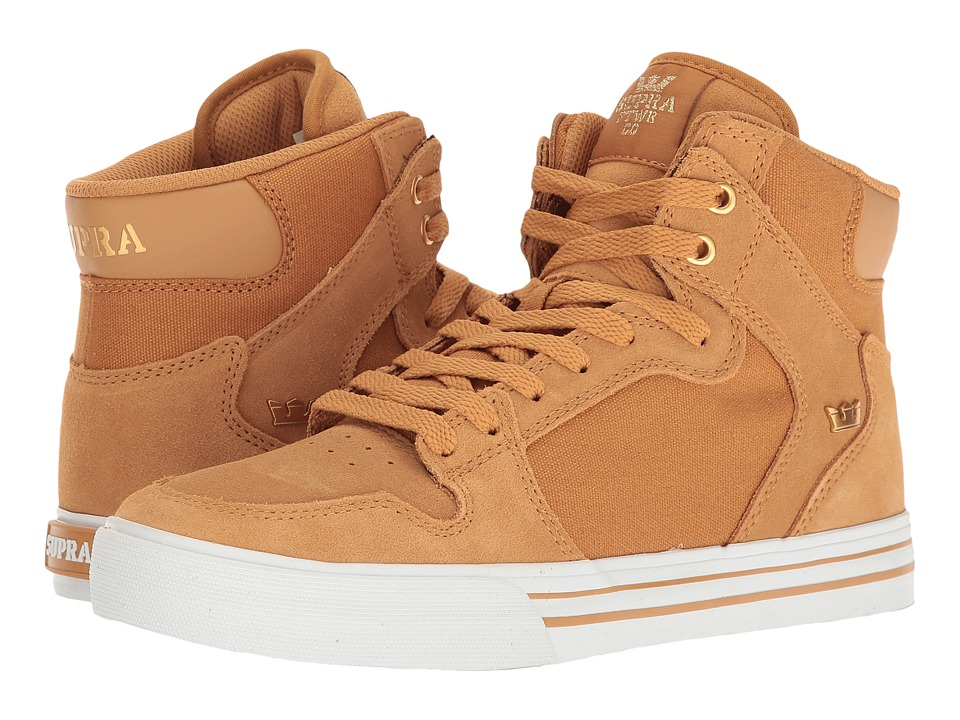 Supra Vaider (Amber Gold/White) Skate Shoes