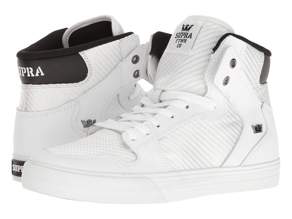 Supra Vaider (White/White) Skate Shoes