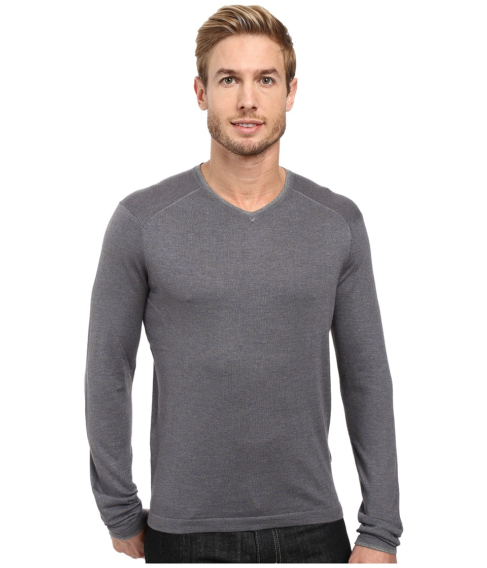 Image of Agave Denim - Alma Long Sleeve Supima Modal Fine Gauge (China Blue) Men's Long Sleeve Pullover