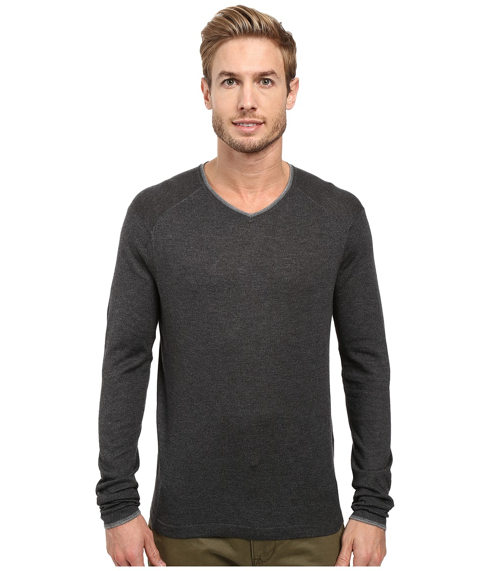 Image of Agave Denim - Alma Long Sleeve Supima Modal Fine Gauge (Charcoal) Men's Long Sleeve Pullover