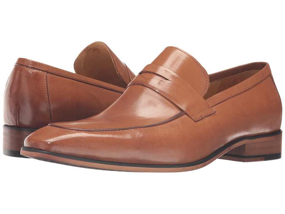 1960s Style Men's Clothing, 70s Men's Fashion Carrucci - Penny Wise Tan Mens Shoes $110.00 AT vintagedancer.com