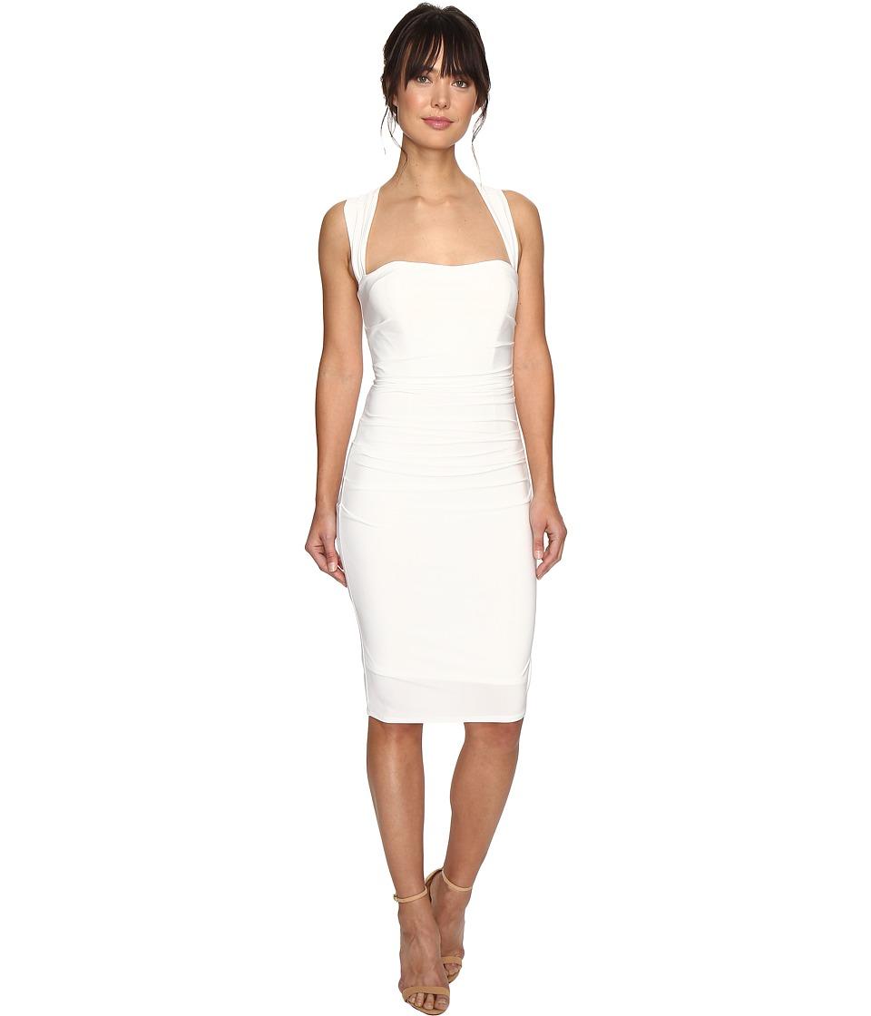 Laundry by Shelli Segal Cross Back Jersey Cocktail Dress (Warm White) Women