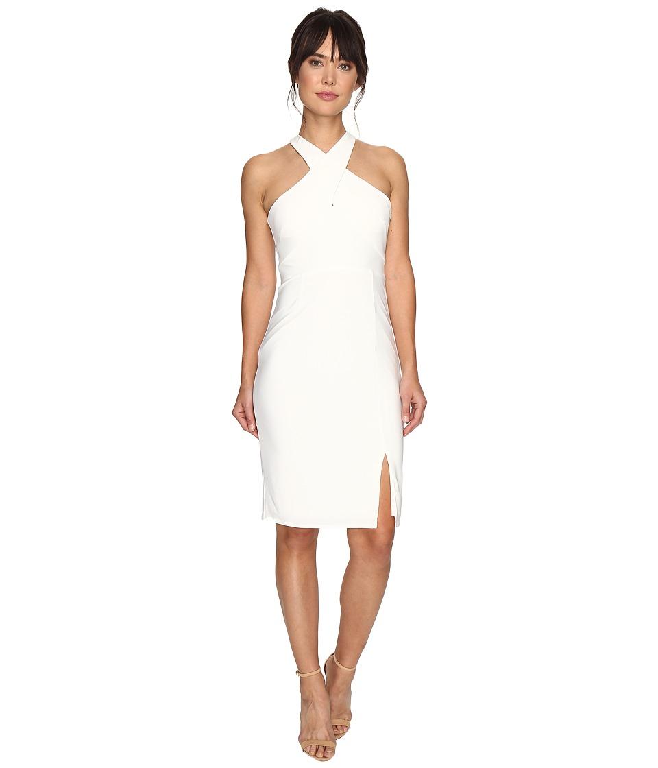 Laundry by Shelli Segal Cross Front Matte Jersey Dress (Warm White) Women