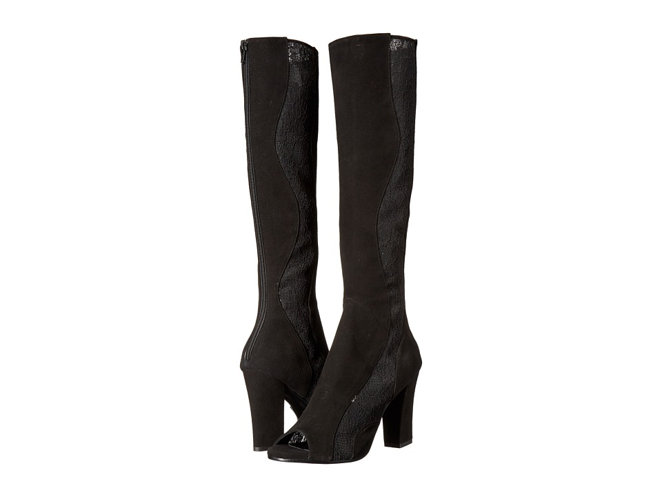 Image of ASKA - Hutton (Black Suede/Lace) Women's Boots