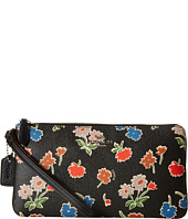 COACH - Daisy Floral Print Double Zip Wallet