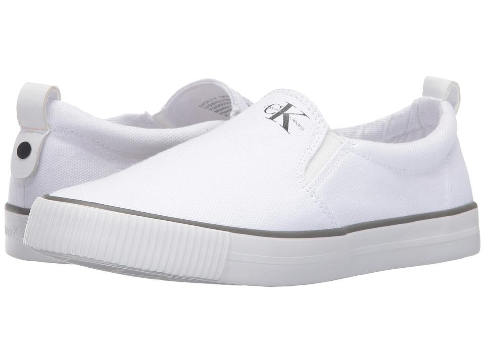 Calvin Klein - Dolly (White Canvas) High Heels