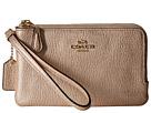 COACH - Polished Pebbled Leather Double Corner Zip Bag