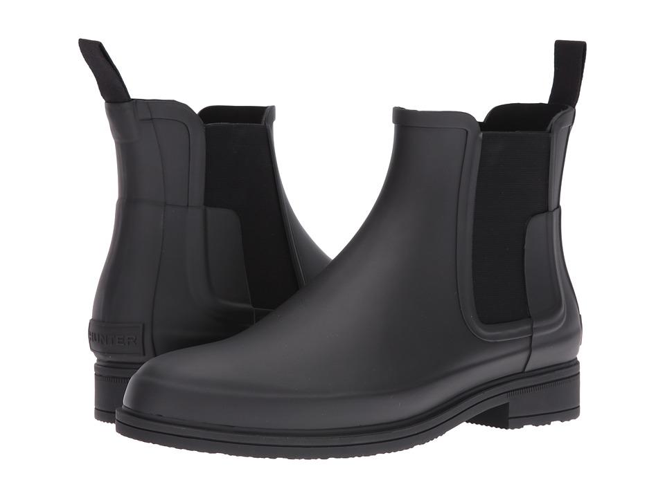 Hunter Original Refined Dark Sole Chelsea Boots (Black) M...