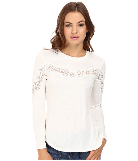 Rebecca Taylor Tee with Lace - Chalk