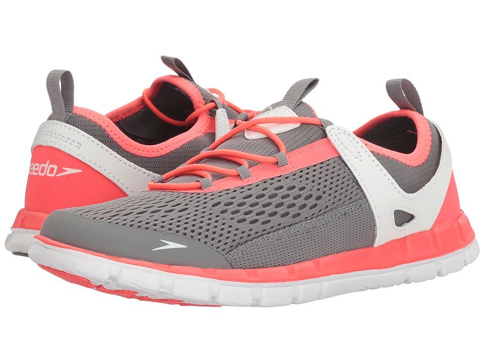 Speedo The Wake (Grey/Neon Pink) Women's Slip on  Shoes
