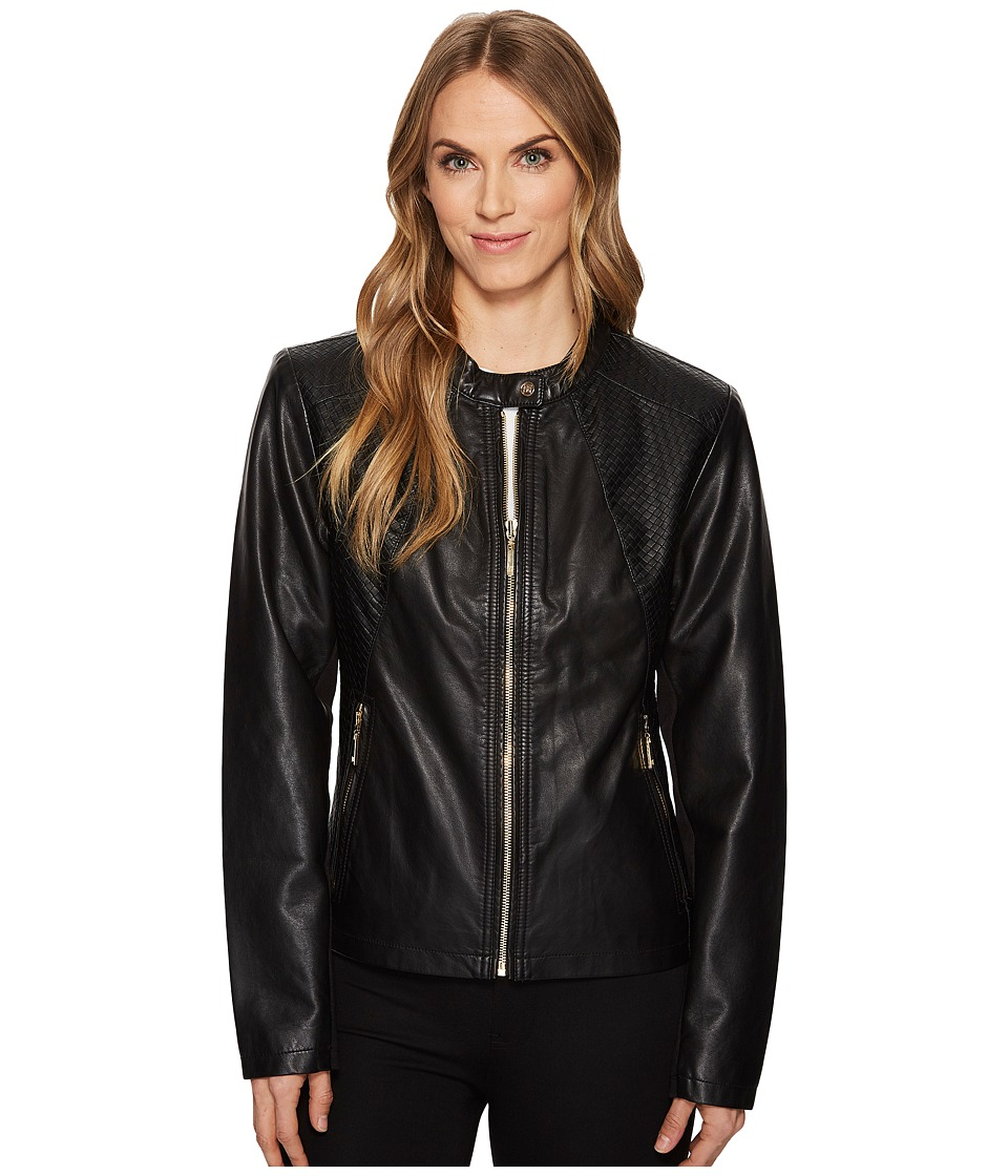 Ivanka Trump - PU Jacket (Black) Womens Coat