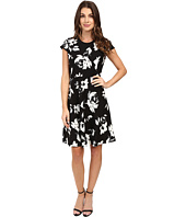 Ivanka Trump - Printed Cap Sleeve Scuba Crepe Dress