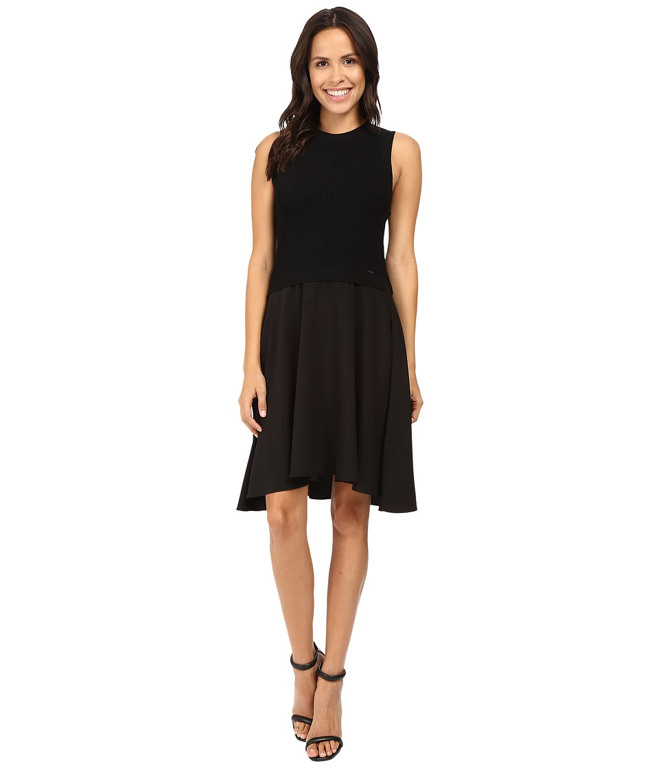 Ivanka Trump - Sweater Knit Dress (Black) Women