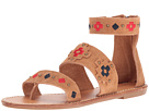 Soludos - Embroidered Three Banded Sandal (Camel Suede)