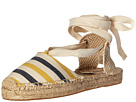 Soludos - Striped Platform Gladiator Sandal (Mustard/Navy/Natural Heavy Woven Canvas)