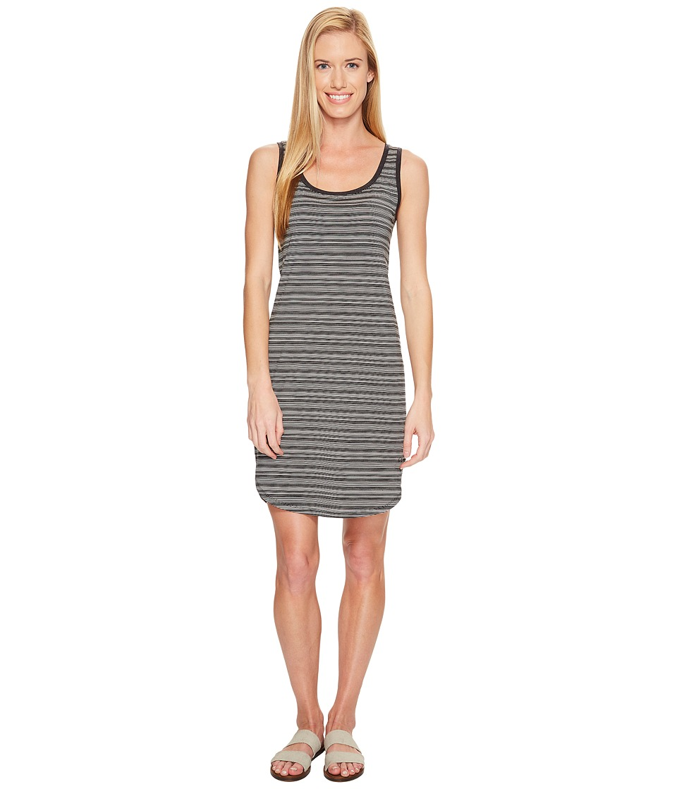 Icebreaker Yanni Tank Dress (Black/Snow/Stripe) Women