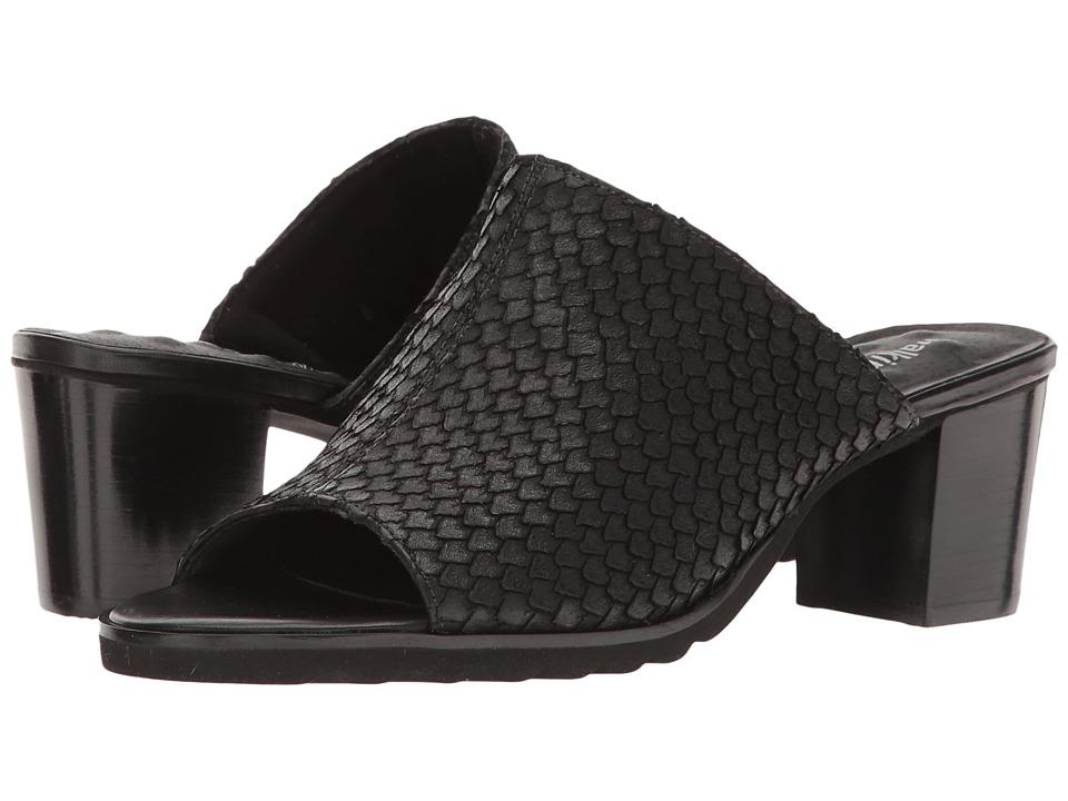 Walking Cradles Nia (Black Cut Snake Print Leather) Women