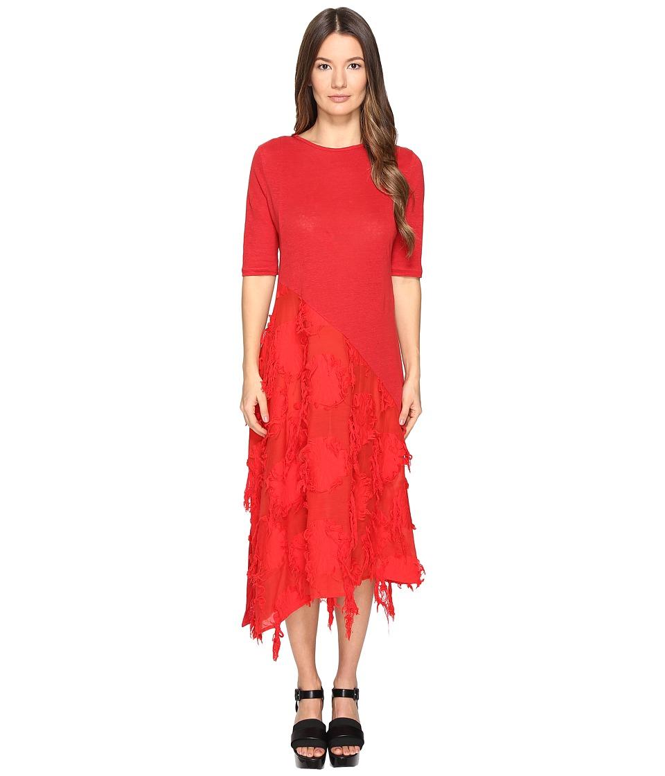 Y's by Yohji Yamamoto - U-Patched Half SD Textured Short Sleeve Dress