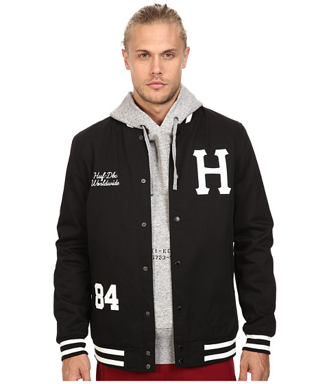 HUF Classic H Varsity Jacket - Black 1