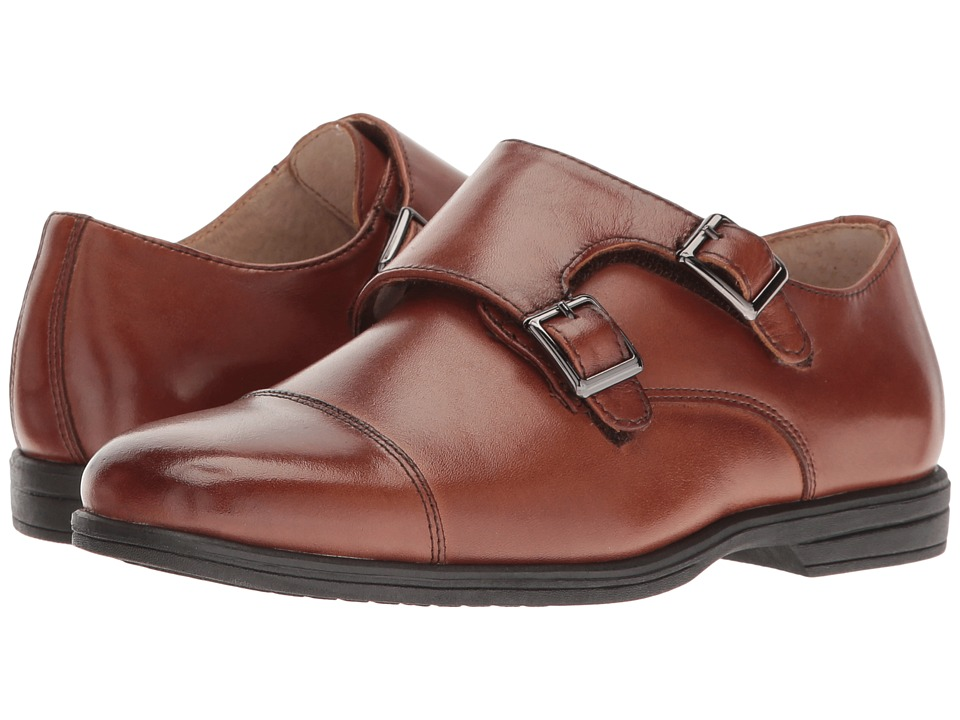 Florsheim Kids Reveal Double Monk Oxford (Toddler/Little Kid/Big Kid) (Cognac) Boys Shoes