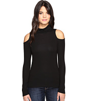 Lanston - Cold Shoulder Turtleneck Top