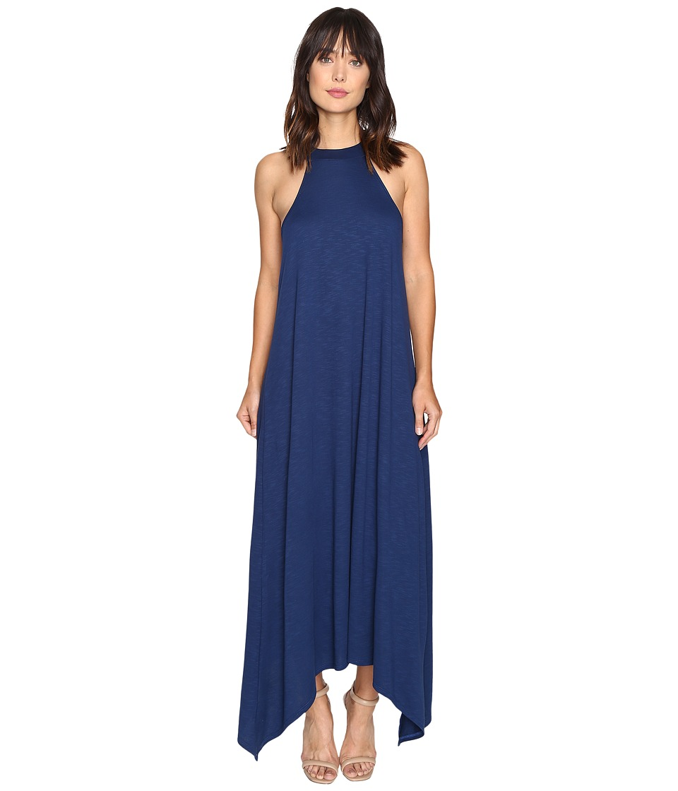 Lanston - High-Low Halter Midi Dress