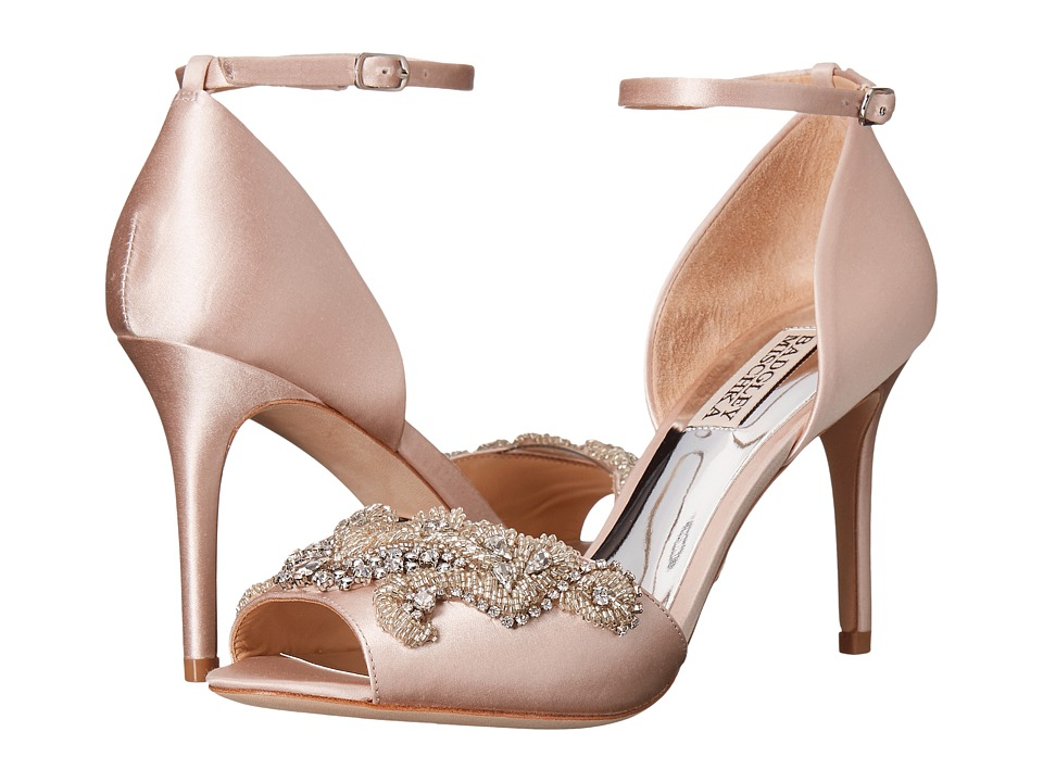Badgley Mischka Barker (Light Pink Satin) High Heels