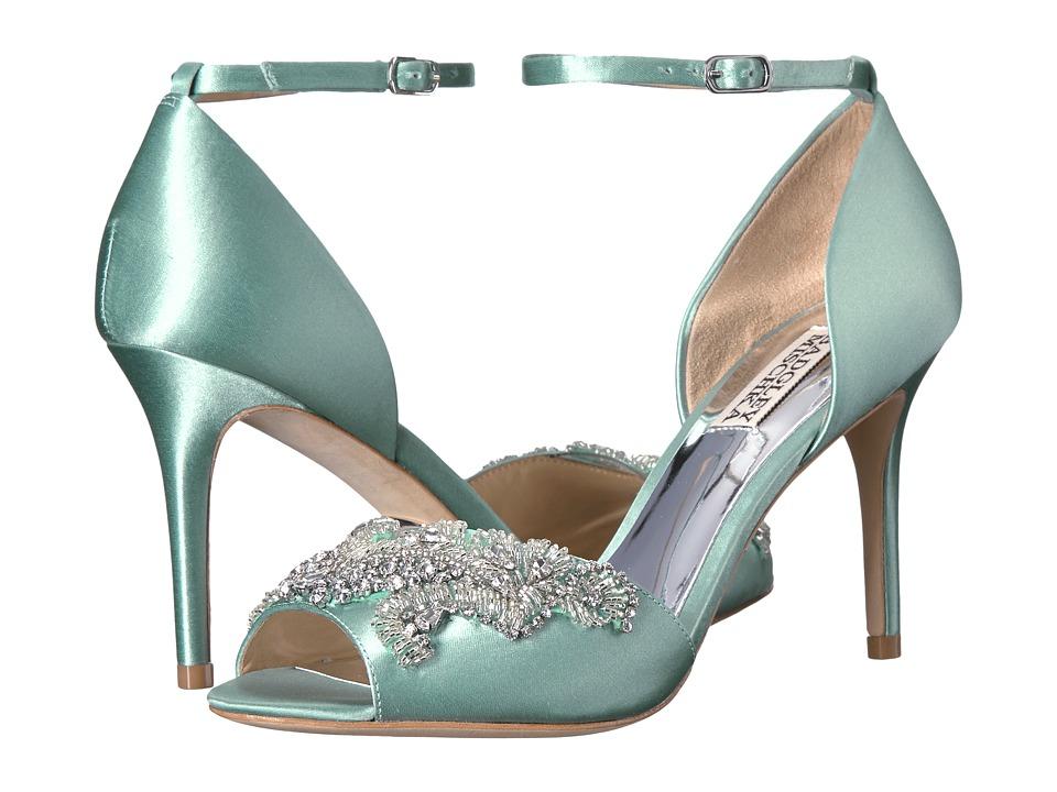 Badgley Mischka Barker (Blue Radiance Satin) High Heels