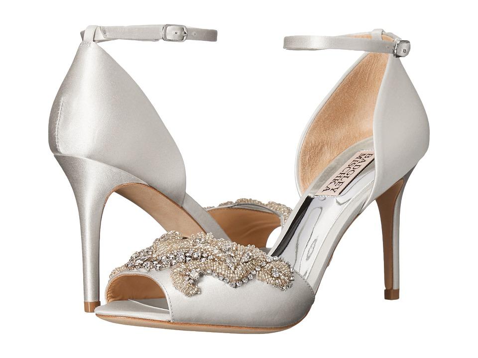 Badgley Mischka Barker (White Satin) High Heels
