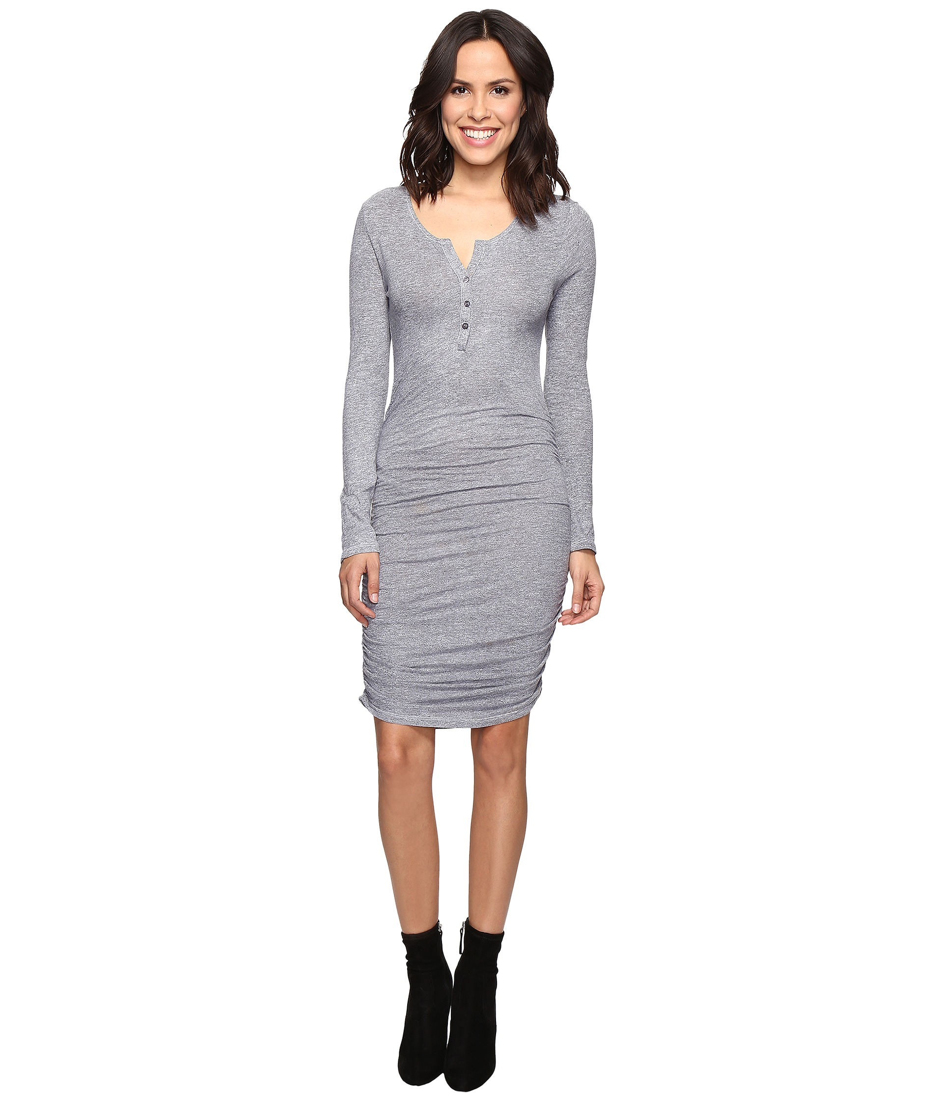 Wedding Ruched Dress ruched dress shipped free at zappos lanston henley dress
