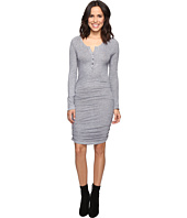 Lanston - Ruched Henley Dress