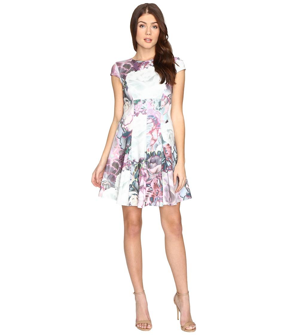 Ted Baker Mah Illuminated Bloom Skater Dress (Purple) Women