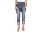 Jag Jeans Petite - Petite Lewis Straight Cuffed Comfort Denim in Weathered Blue
