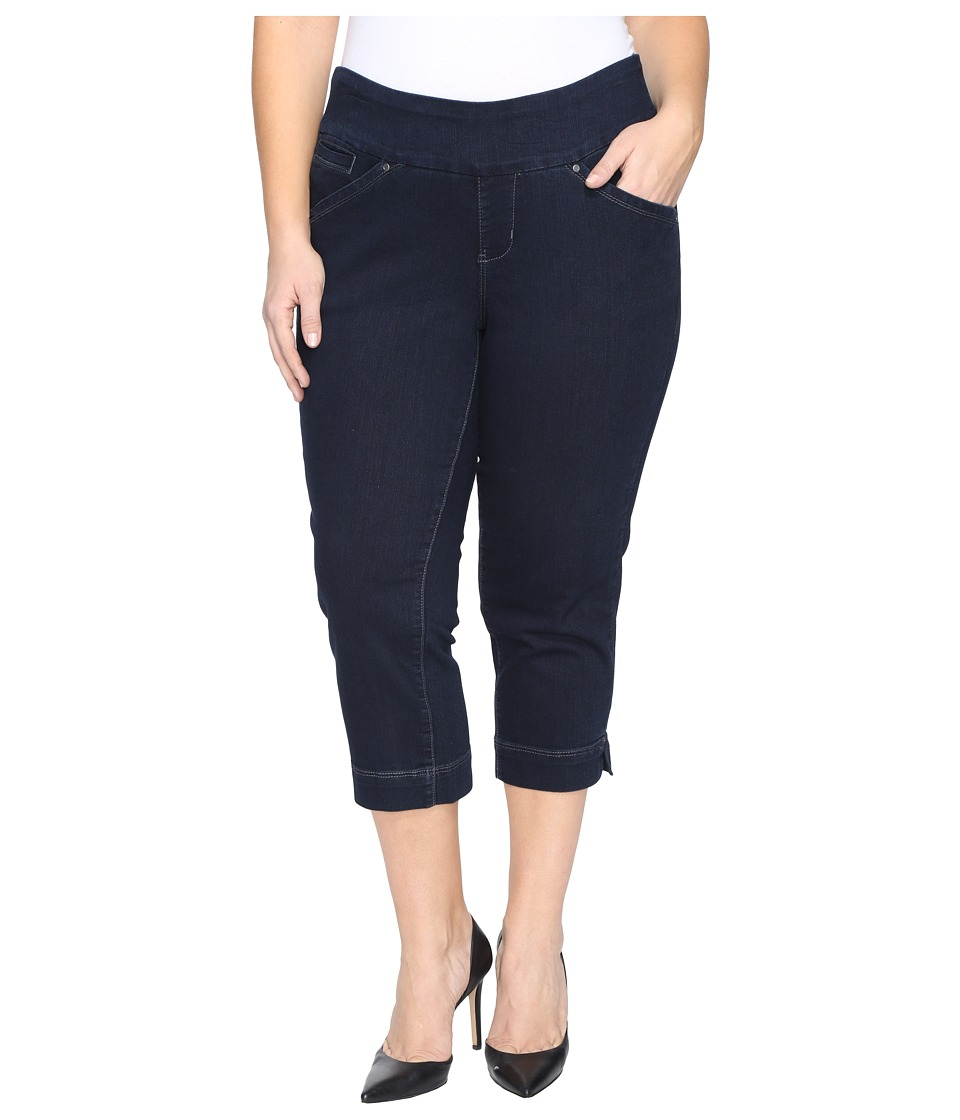 Jag Jeans Plus Size Plus Size Marion Pull-On Crop in Comfort Denim in After Midnight (After Midnight) Women