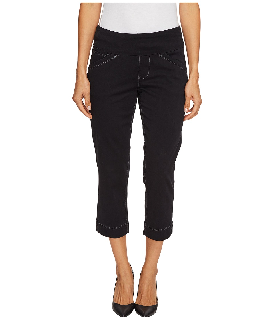 Jag Jeans Petite Petite Marion Pull-On Crop in Bay Twill (Black) Women