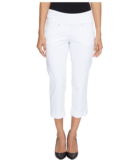 Jag Jeans Petite Petite Marion Pull-On Crop in Bay Twill - White