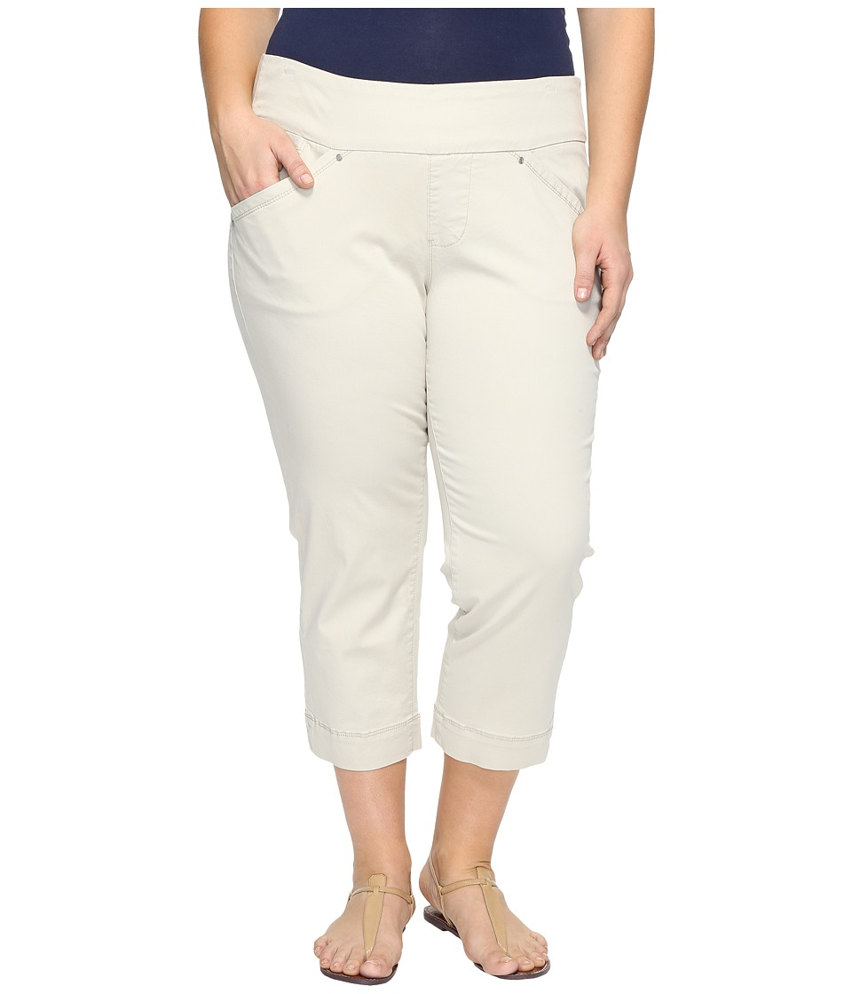 Jag Jeans Plus Size Plus Size Marion Crop in Bay Twill (Stone) Women