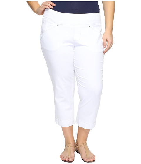 Jag Jeans Plus Size Plus Size Marion Crop in Bay Twill - White