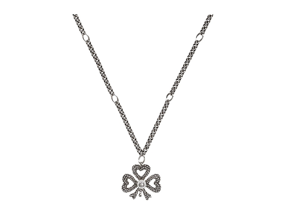 Gucci Steel Cut Necklace (Silver/Black) Necklace