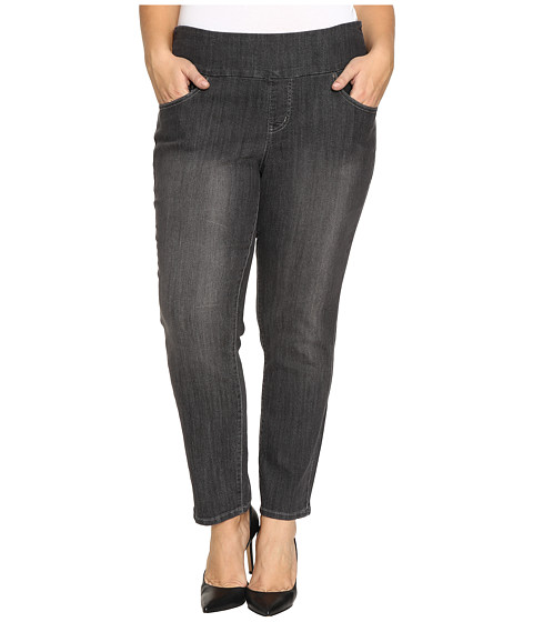 Jag Jeans Plus Size Plus Size Amelia Pull-On Slim Ankle Comfort Denim in Thunder Grey